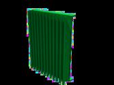"""4"""" Deep Aluminum Vertical Blade Equipment Screen"""