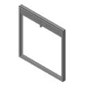 Ultra Slimline Curtain Fire Damper - 1-1/2 & 3 Hour - Static - Optional Sleeve