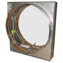 Curtain Fire Damper - 1-1/2 & 3 Hour - Static - Optional Sleeve