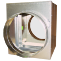 Curtain Fire Damper - 1-1/2 & 3 Hour - Static - Integral Sleeve - Round, Oval, Rectangular & Low Profile Transitions Optional