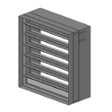 Multi-Blade Fire Damper - 1-1/2 & 3 Hour - Dynamic - 3V Blade - Optional Sleeve - Out of Wall or Round Option