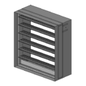 Multi-Blade Fire Damper - 1-1/2 & 3 Hour - Dynamic - Airfoil Blade - Optional Sleeve - Out of Wall or Round Option
