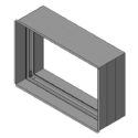 Curtain Fire Damper - 1-1/2 Hour - Dynamic - Sleeved - Out of Wall