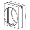 Curtain Fire Damper - 1-1/2 & 3 Hour - Dynamic or Static - Integral Sleeve - Round, Oval, Rectangular & Low Profile Transitions Optional