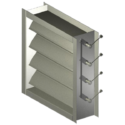 Industrial Duty Steel Airfoil Rectangular Damper