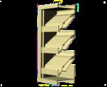 "4"" Deep Aluminum Combination Louver/Backdraft Damper"