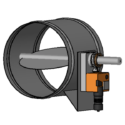 Modulating Motorized Damper for Low Pressure Systems