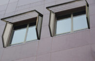 "6-1/2"" Batten Blade/Perforated Side Panel Sunshade"