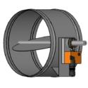 Round, Electric Remote Control, single blade damper
