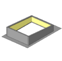 One Piece Curb with Loose Rib Closures - Use with R & SSR panels