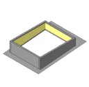 One Piece Curb with Loose Rib Closures (downhill side) - Use with R & SSR Panels