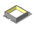 One Piece Curb with Integral Rib Closures - Use with R & SSR Panels