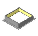 Two Piece Curb with Loose Rib Closures - Use with R & SSR Panels