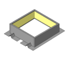Two Piece Curb with Integral Rib Closures - Use with R & SSR Panels